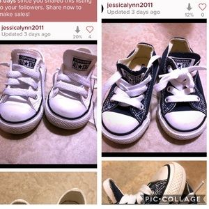 2 Pair of Toddler Converse